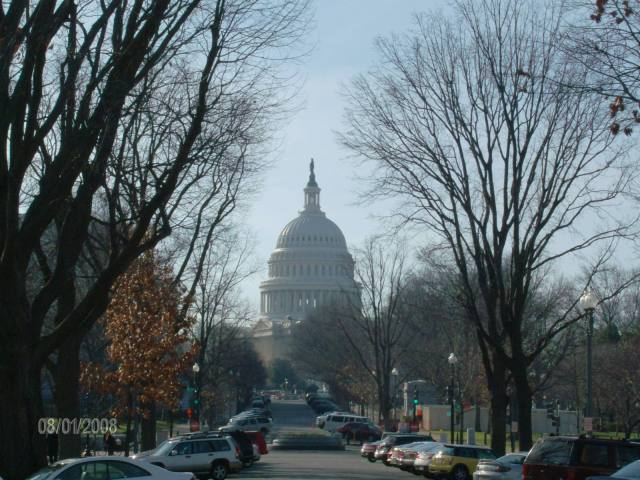 El Capitolio, así se ve a la salida de la Union Station