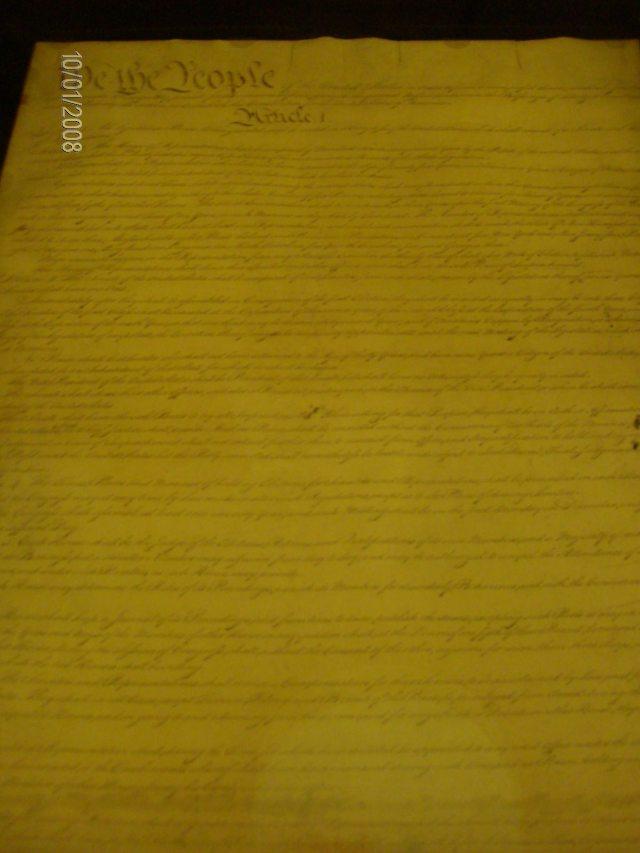 El original de la Constitución de EEUU en los Archivos Nacionales