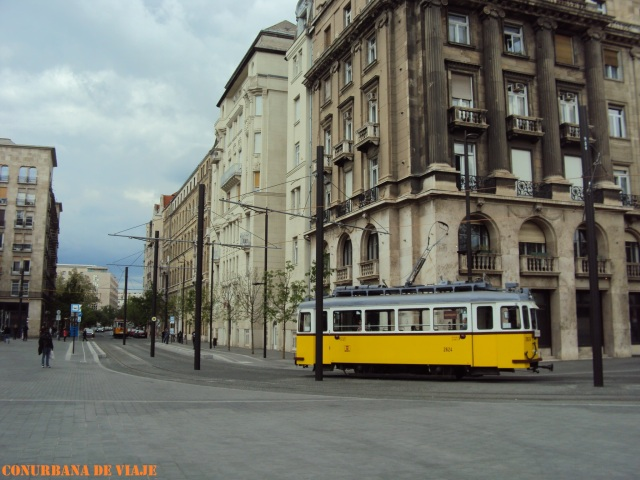 Tranvía frente al Parlamento
