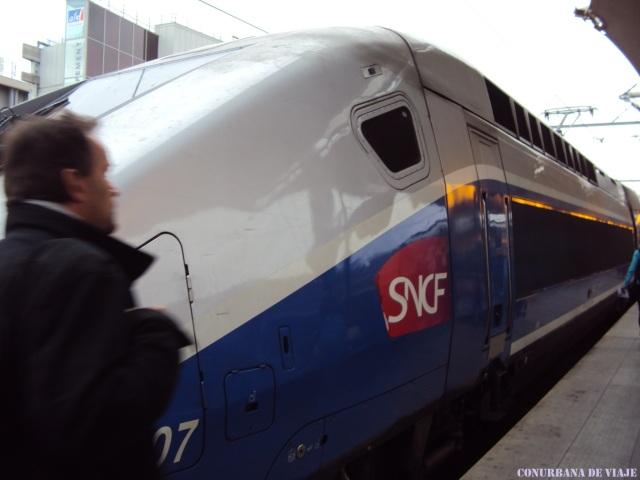 Gare de Lyon, volviendo a Ginebra desde Paris en el TGV